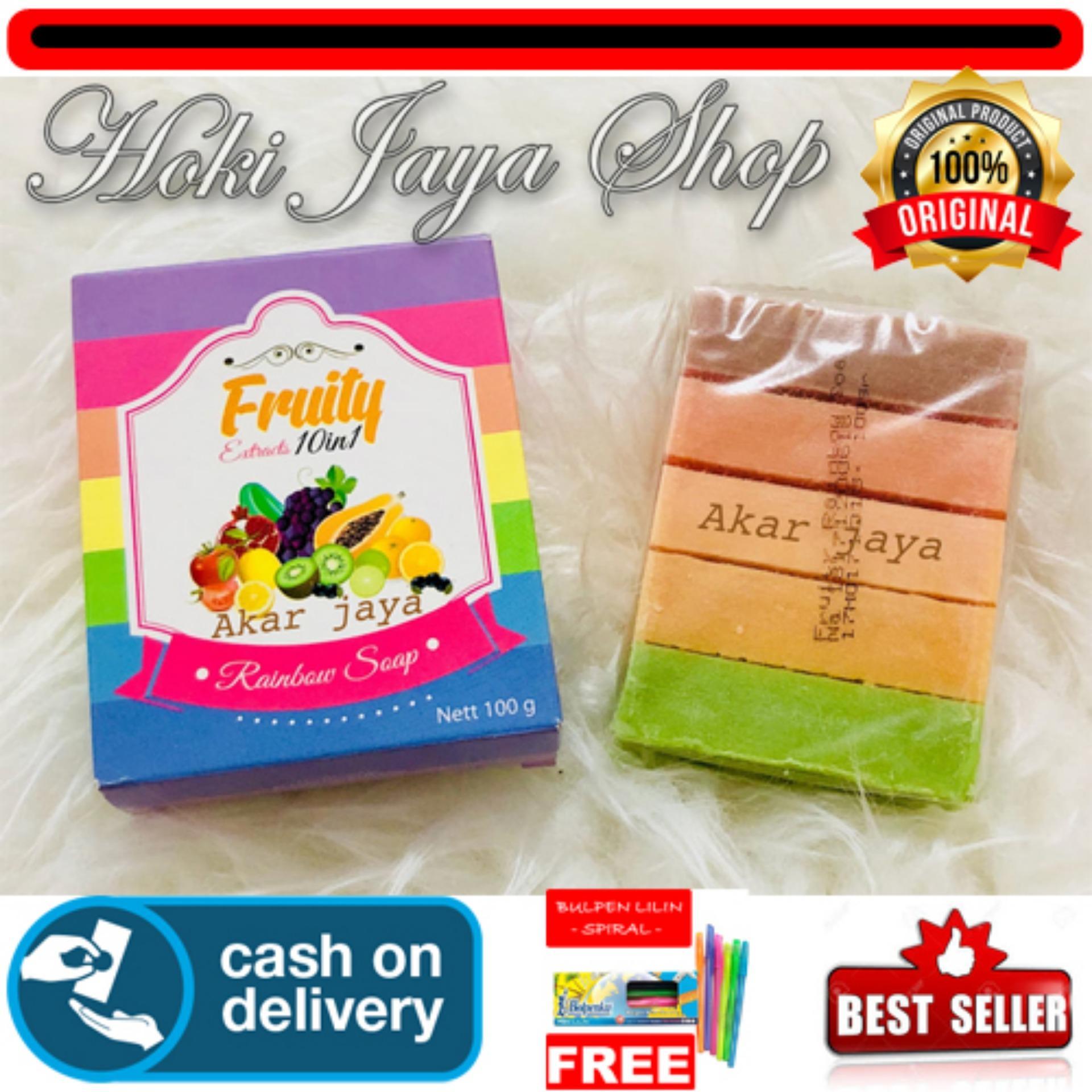 HOKI COD - Fruity Rainbow Soap 10 in 1 Whitening Soap Fruitamin Original Sabun Pemutih Badan