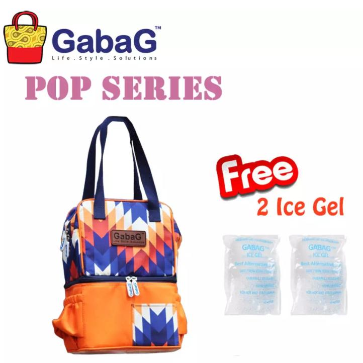 Gabag Cooler Bag Nuri Free 2Pc Ice Gel Coolerbag Nuri Tas Penyimpan Asi Bayi Modis Terbaru Terbaru