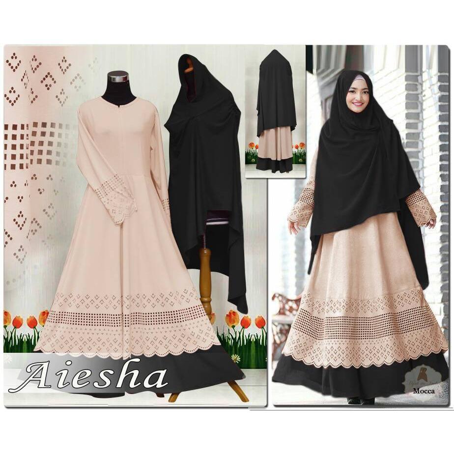 Humaira99 Gamis Syari Muslim Wanita Busui Dress Muslimah Atasan Aiesha