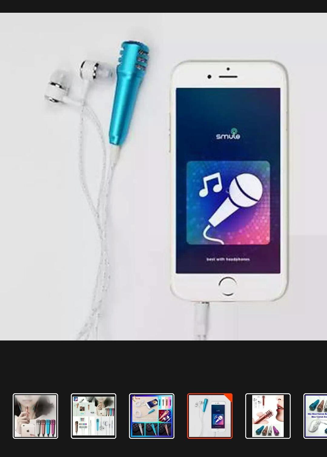 Microfone mini  Untuk smule Karaoke _ Mic karaoke - 4