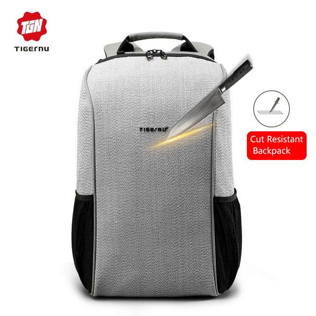 Harga 2017 Tigernu Merek Cut Resistant Multifungsi Travel Anti Theft Laptop Ransel Intl Origin
