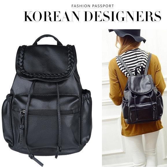 Beli Jcf Tas Ransel Kulit Pu Import Korean Style Bagus Fashion Branded Wanita Remaja Dan Dewasa Janetta Black Large Jcf Murah