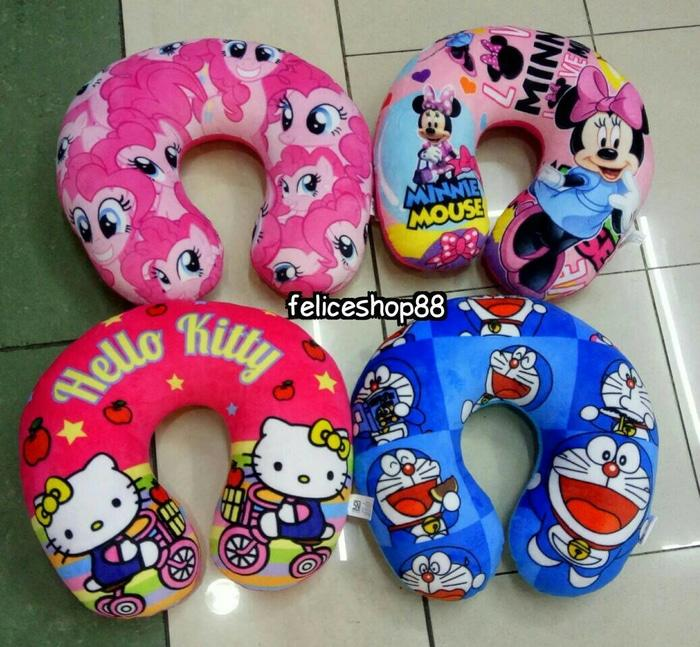 Bantal Leher Frozen/Keropi/ Kuda Poni/Minnie/Hello Kitty/Doraemon - 3Badjg