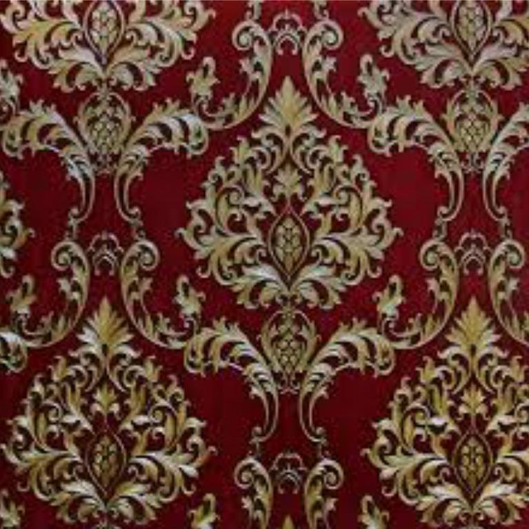 Walpaper Sticker Dinding Merah Batik Terbaru SIZE 45CMX10M