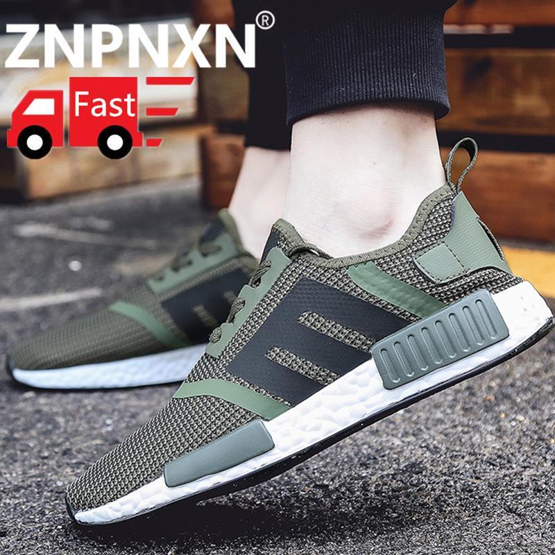 ZNPNXN Sepatu Lari untuk Pria Ringan Bantalan Tahan Lama Bernapas Renda Hingga Sneaker Sepatu Olahraga Kasut