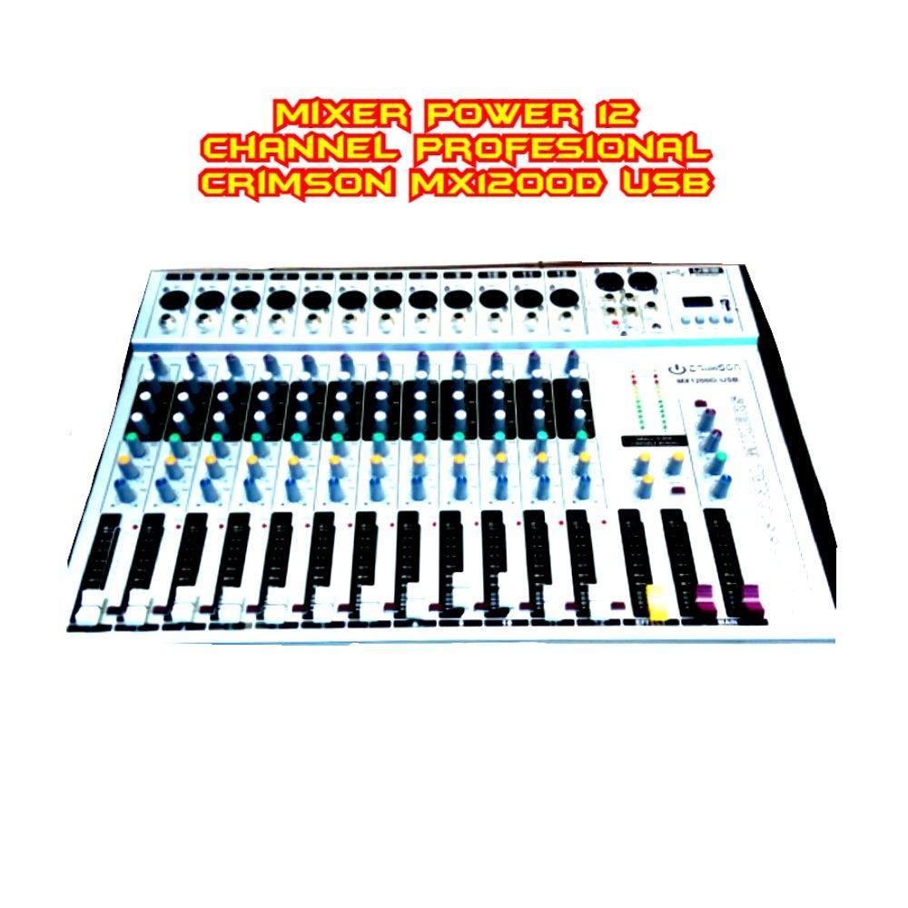 Kelebihan Mixer Power 12 Channel Profesional Crimson Mx1200d Usb Original