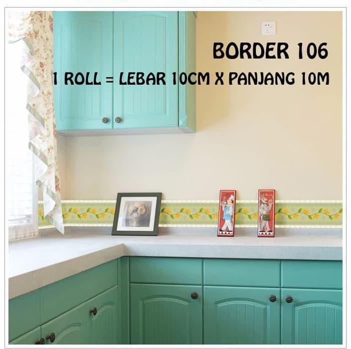 WALLPAPER BORDER SKM 106 UK LEBAR 10.6CM X PANJANG 10METER wallpaper stiker .