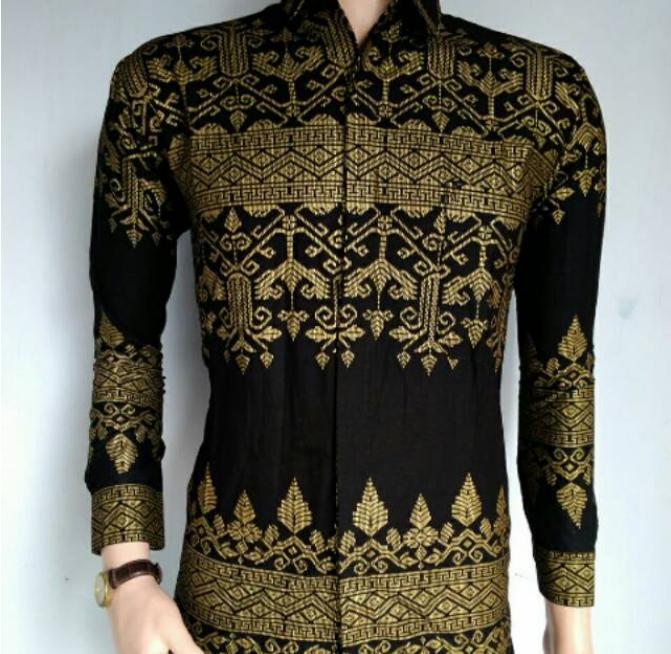 TotallyGreatShop Baju Batik Anjani - Kemeja - Hem batik pria - Batik Fashion Lengan Panjang -
