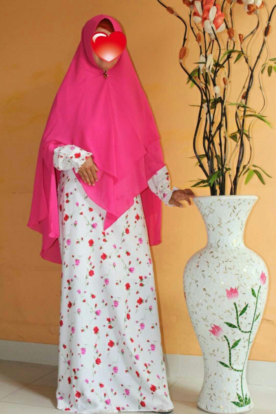 Adzra Gamis Murah syari /busana muslim wanita - Khirani Dress - Pink - 3
