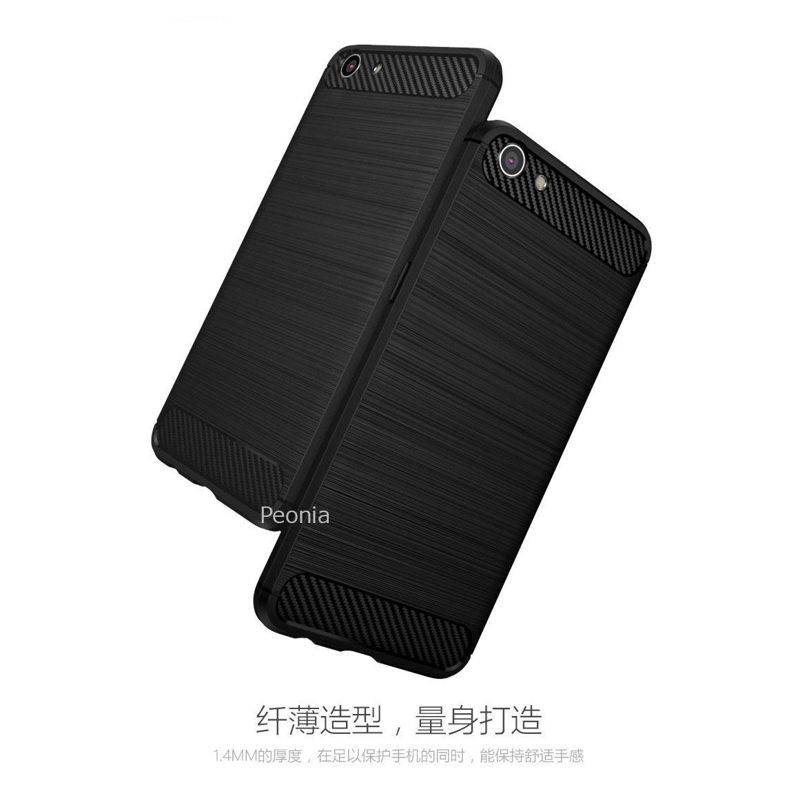 Peonia Carbon Shockproof Hybrid Premium Quality Grade A Case for Oppo F1s / A59 / A59S