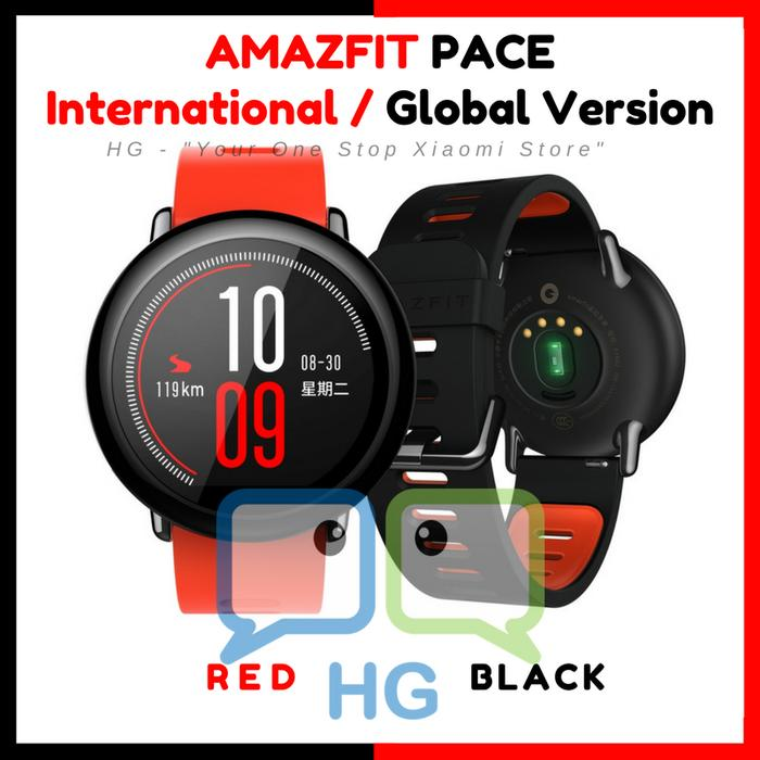 AMAZFIT PACE Smartwatch English International Red Black Xiaomi Huami