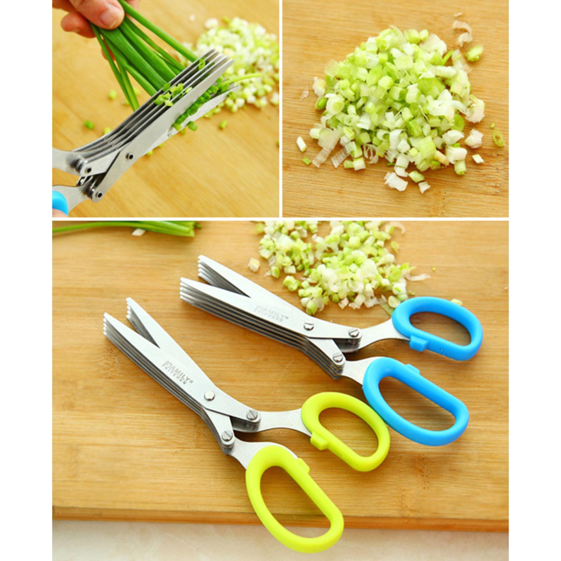 ... Gunting 5 Lapis / Gunting Daun Bawang Gunting Sayur Dapur - 4 ...