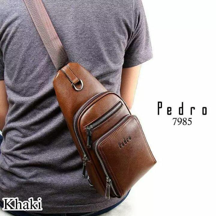 BEST SELLER Pedro 7985 Slingbag - Tas Fashion Selempang Pria Tas Import Tas Cowok Bag Import