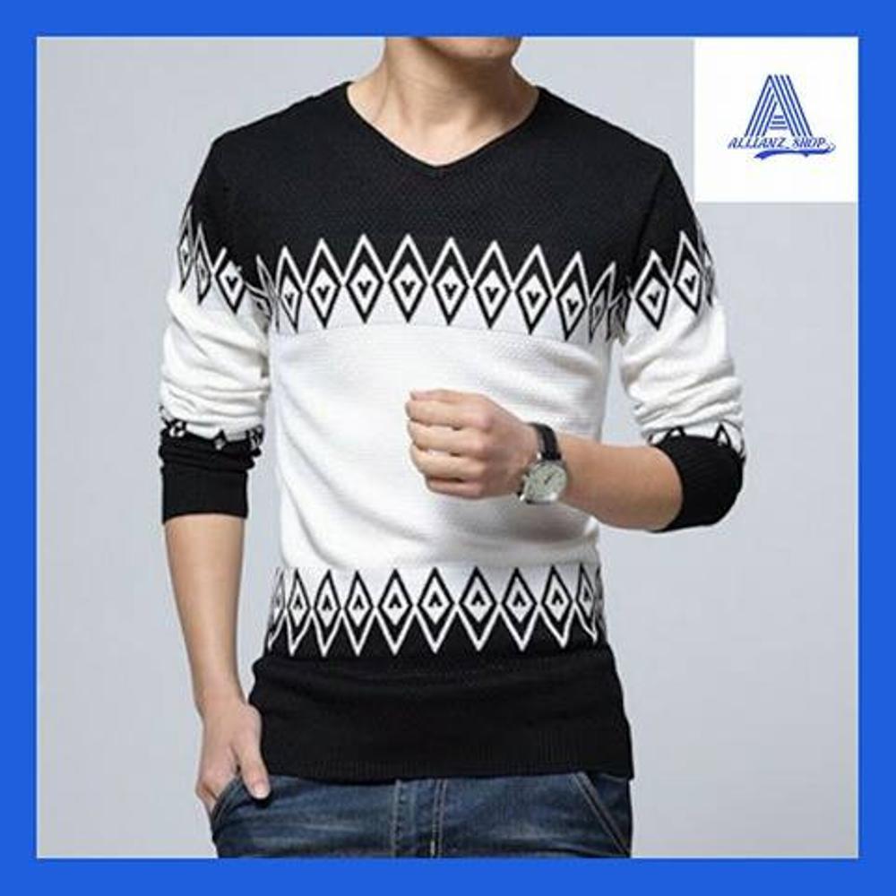 Beli Switer Rajut Zeru Black Size L Sweater Rajut