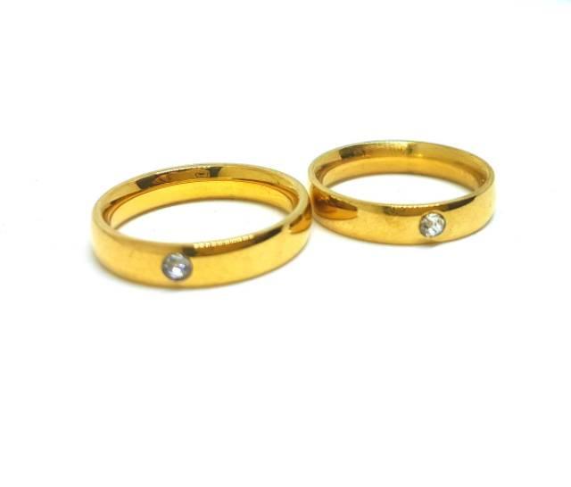 Cincin Couple Titanium Anti Karat Selamanya Ct28 - 2 ...