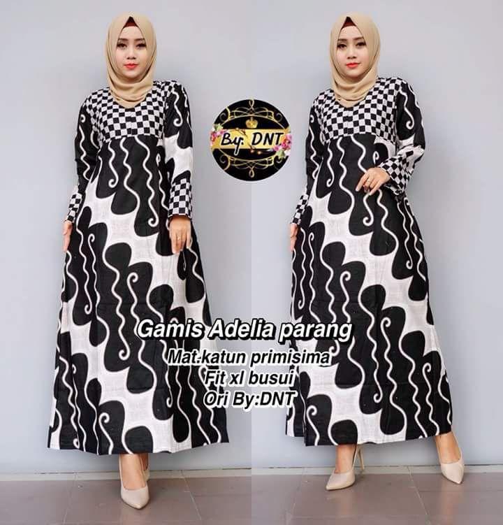 Fitur Outer Batik Wanita Gamis Atasan Batik A523 Gamis Batik Muslim