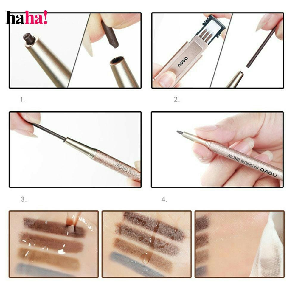 Fitur Novo Eyebrow Pensil Alis Pen Otomatis Cetakan Reffil 4 Pcs 3