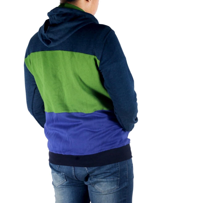 Kelebihan Dgm Fashion1 Jaket Polos Combinasi Denim Pria Jeans Casual Parasut Bomber