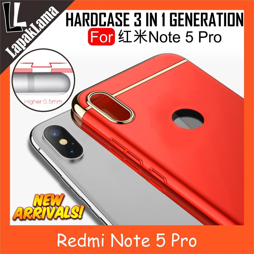 Ipaky New Generation 3 In 1 Case Xiaomi Redmi Note 5 Pro Hardcase Back