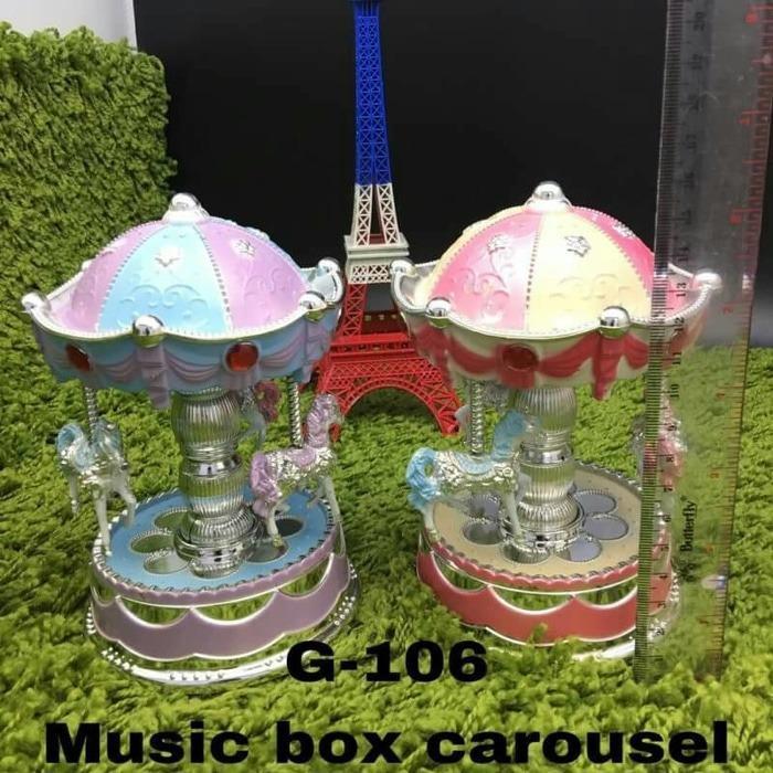 Kotak Musik Kuda Putar/Music Box Carousel