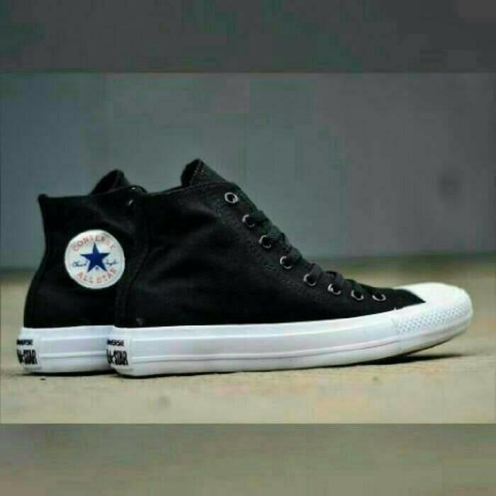 Sepatu Converse Ct Ii Mono High Lunarlon Black White Hitam Putih Murah -  Ziotha c6a5f48a9a