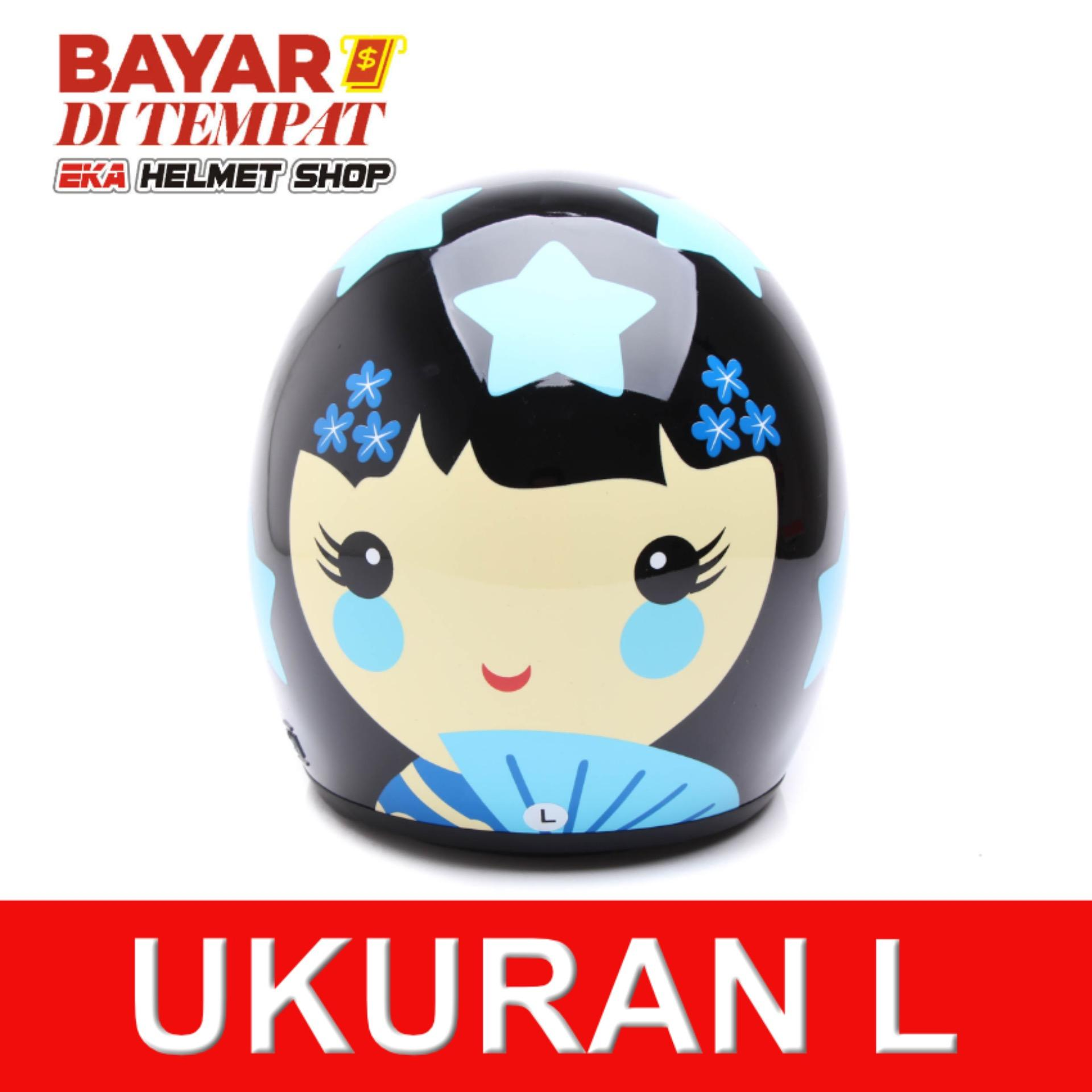 Harga Hemat Wto Helmet Retro Bogo Kokhesi Bintang Hitam Biru