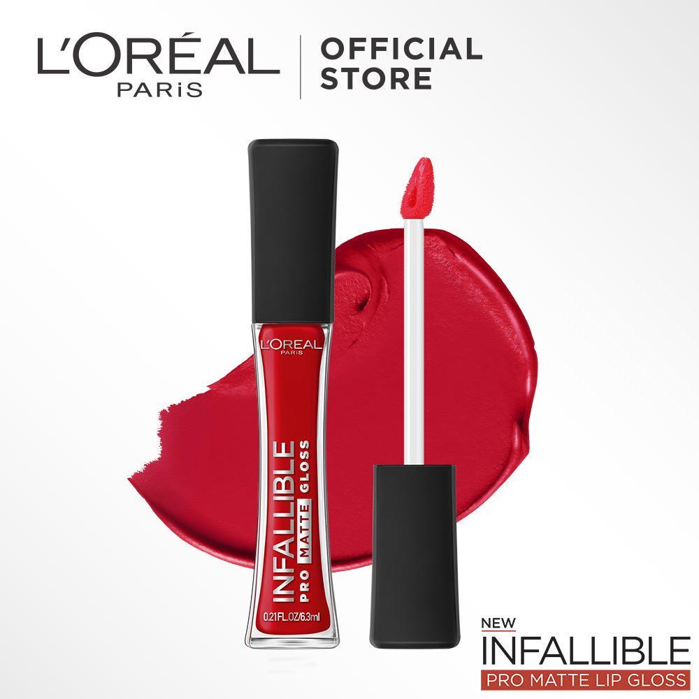 Promo Terlengkap Loreal Paris Makeup Lipstick Infallible Pro Matte Foundation Alas Bedak Gloss Shanghai Scarlet 308