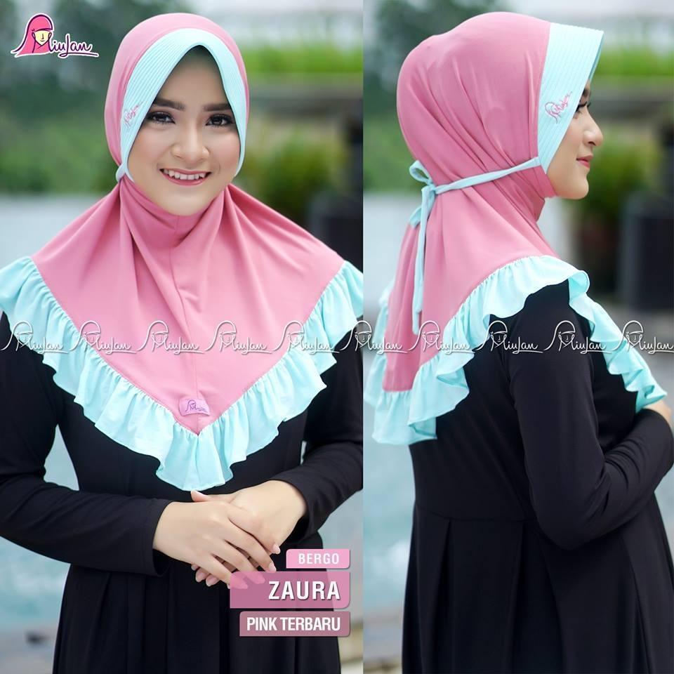 Kerudung Jilbab Instan ZAURA Bergo Rempel MiuLan Hijab