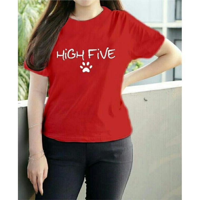 Gambar Produk Rinci Vanessa Tumblr Tee / T-Shirt high five / T-shirt Wanita / Kaos Cewek / Tumblr Tee Cewek / Kaos Wanita Murah / Baju Wanita Murah / Kaos ...