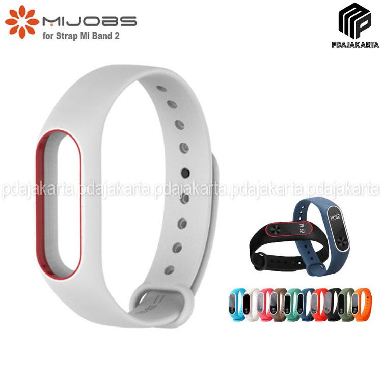 Mijobs Original Xiaomi Strap for Mi Band 2 Oled Display - White Red