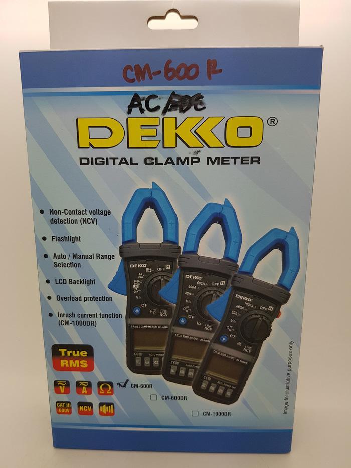 Clamp Meter AC ( Tang Ampere ) DEKKO CM-600R ( TRUE RMS ) Thermometer