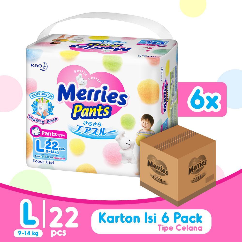 Kelebihan Merries Premium Pants L Isi 22 X 6 Terkini Daftar Harga Good Skin M22