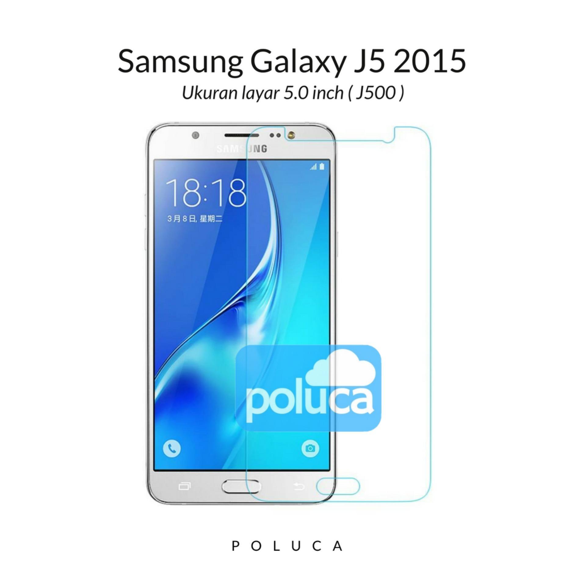 Poluca Tempered Glass Screen Protector Anti Gores Kaca Samsung Galaxy J5 2015 ( J500 ) -
