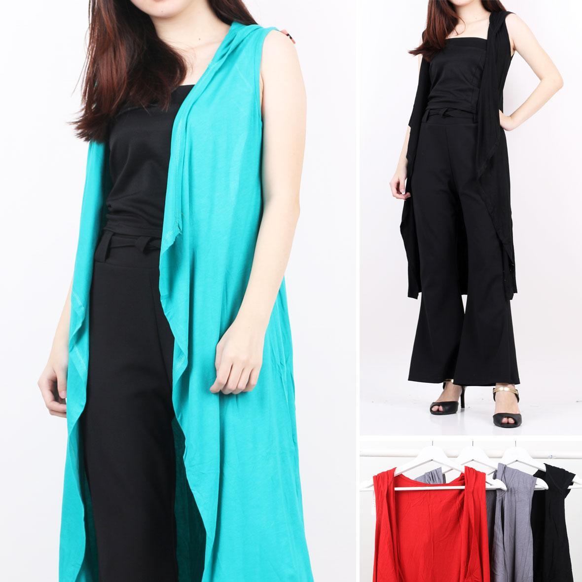 Oma Holley Fashion Cardiana Cardigan Sleeveless Polos 7 Warna-Size M