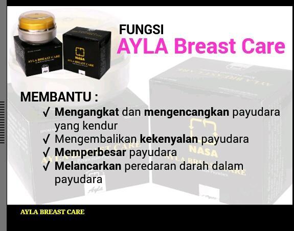 Ayla Breast Care Krim NASA ORIGINAL Pembesar Pengencang Payudara - 15 ml - 2