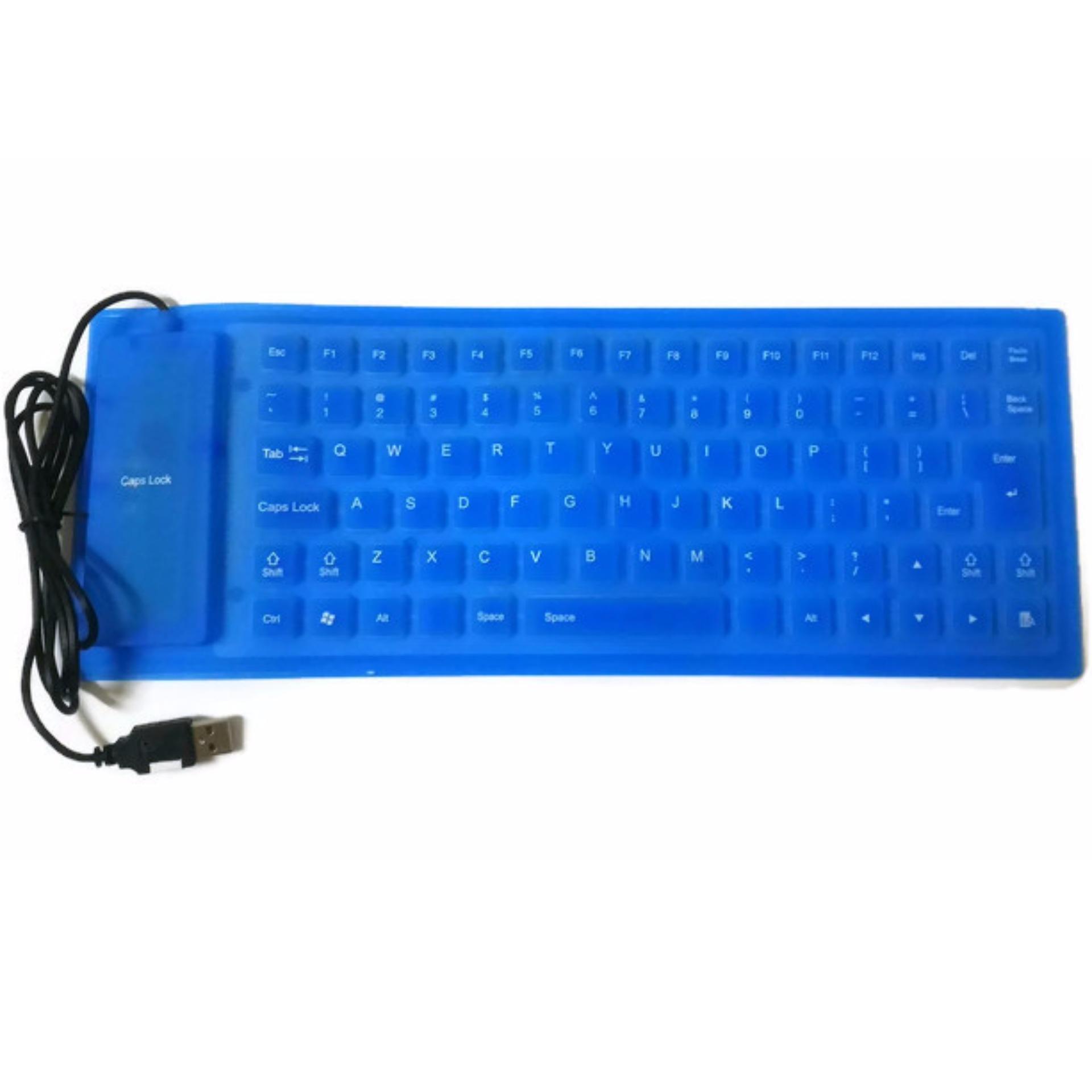 Fitur Keyboard Fleksibel Usb Silicone Bisa Di Lipat Hitam Biru Dan Votre Basic Kb2308 Portable