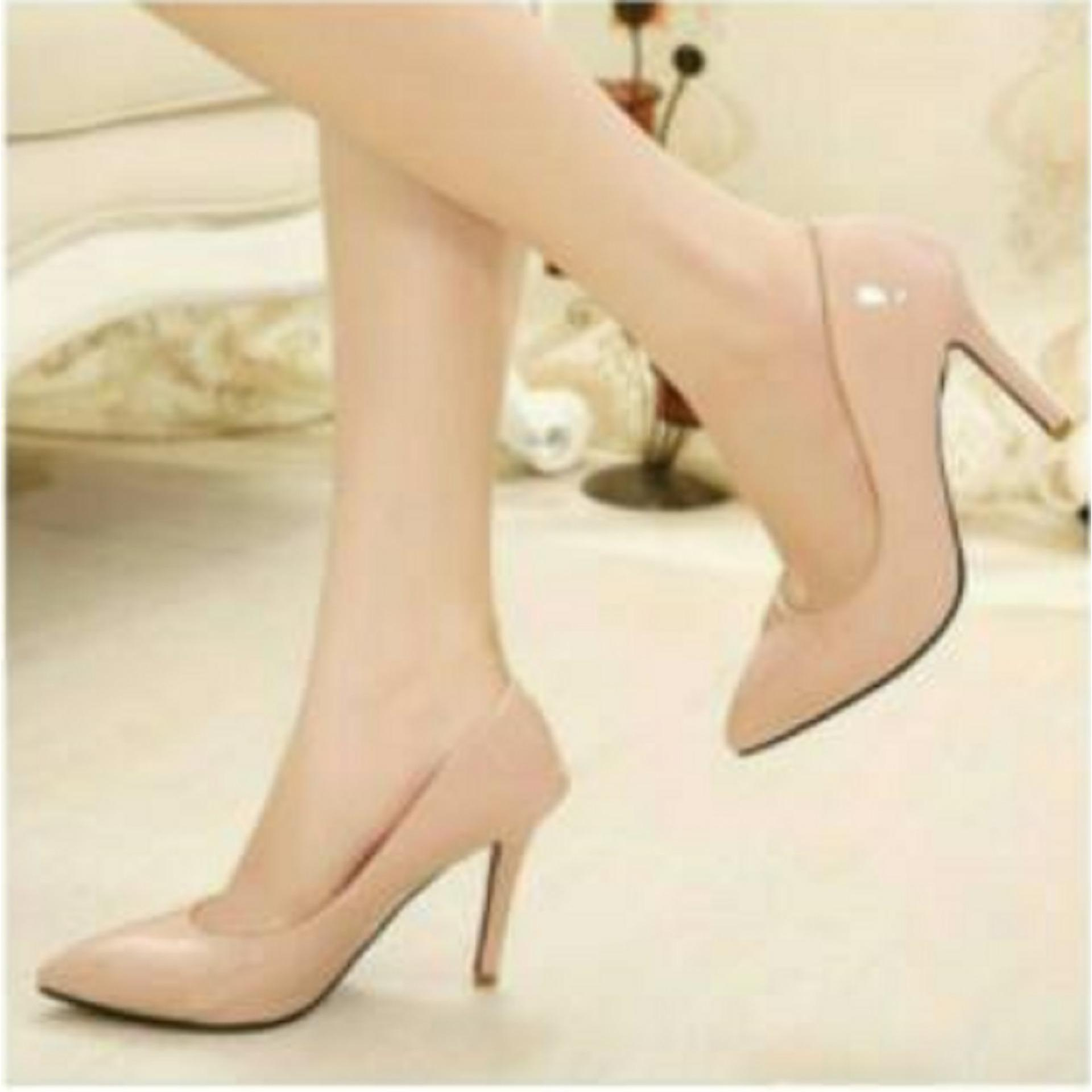 Sepatuafa - High Heels Sepatu Kerja Wanita Pesta Glossy Pantopel OG09