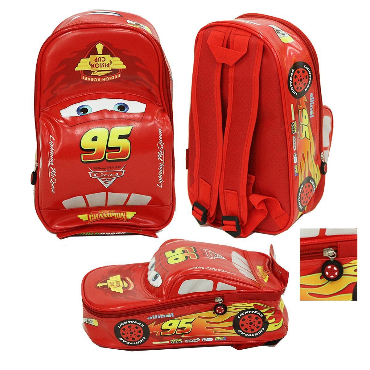 Onlan CARS McQueen TAS MURAH Ransel Anak Sekolah PAUT Bentuk Mobil Bahan Kain Sponge Tahan Air