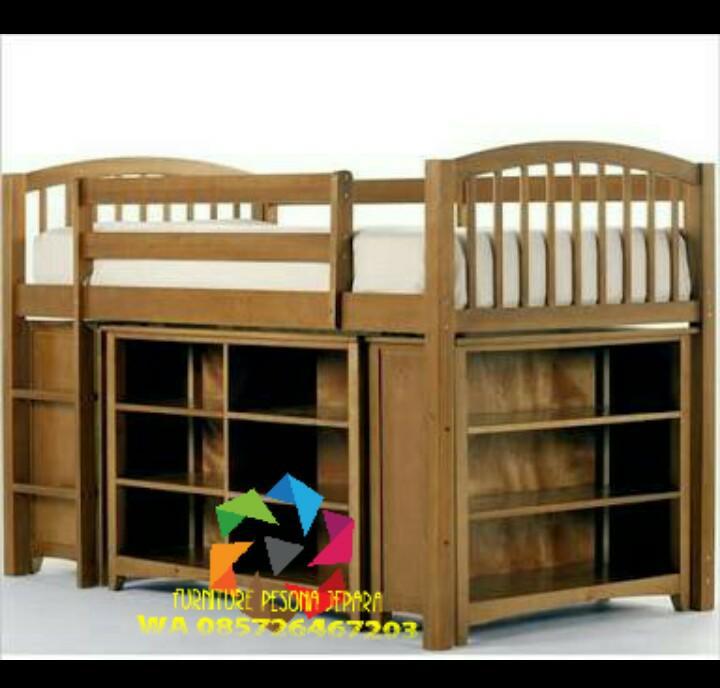 Ranjang susun Set laci Tempat tidur anak. PESONA JEPARA 35
