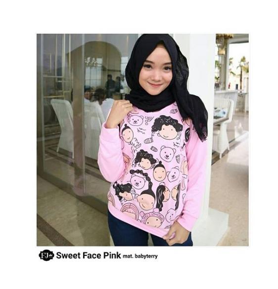 Jacket Wanita Sweater Sweet Face Original Termurah
