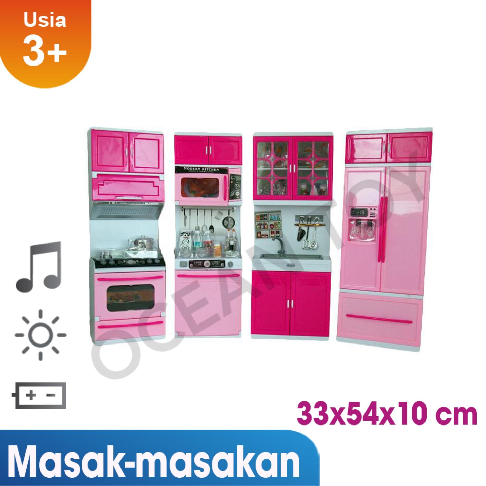 Ocean Toy Modern Kitchen Set Besar Mainan Anak 818-30 Pink