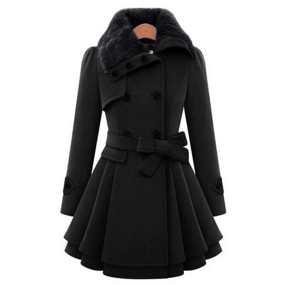 2018 ladies long winter jackets coat for women mantel mantel wol