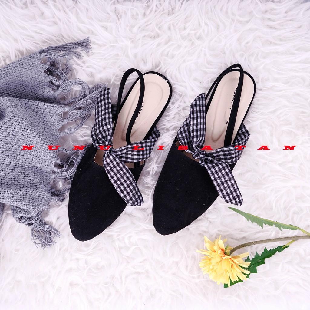 Flatshoes Pita Kain KTK Tali / Flat Shoes Wanita
