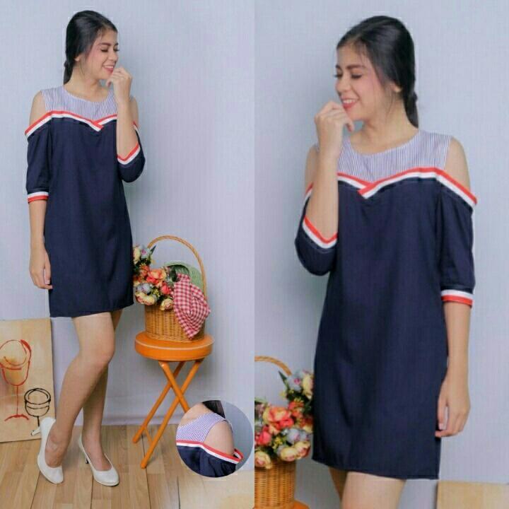 Kafis shop - Dress Lisilia Hitam - Dress Wanita