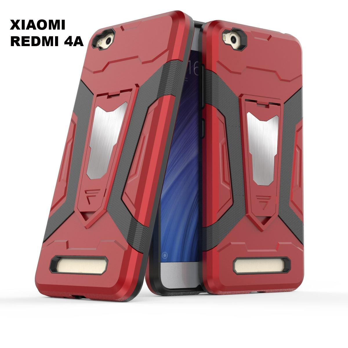 Case Iron Man for Xiaomi Redmi 4A Robot Transformer Ironman Limited - Merah