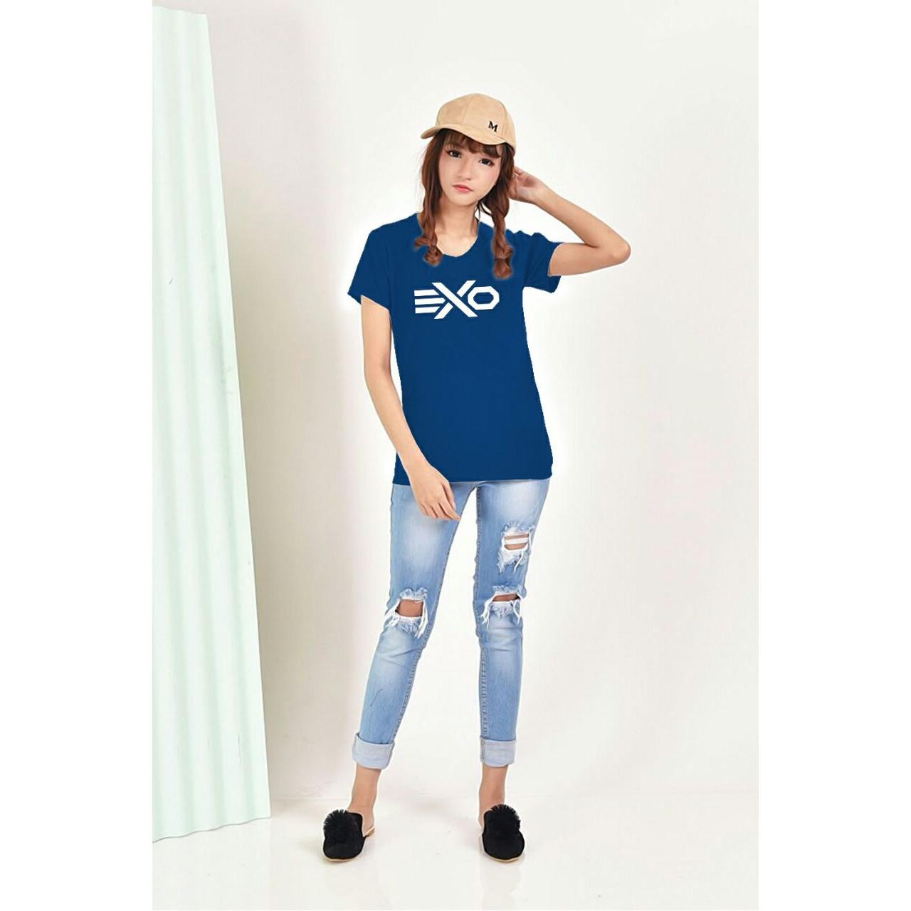 XV Kaos Wanita tee EXO/ T-shirt Distro Wanita / Baju Atasan Kaos Cewek / Tumblr Tee Cewek / Kaos Wanita Murah / Baju Wanita Murah / Kaos Lengan Pendek / Kaos Oblong / Kaos Tulisan