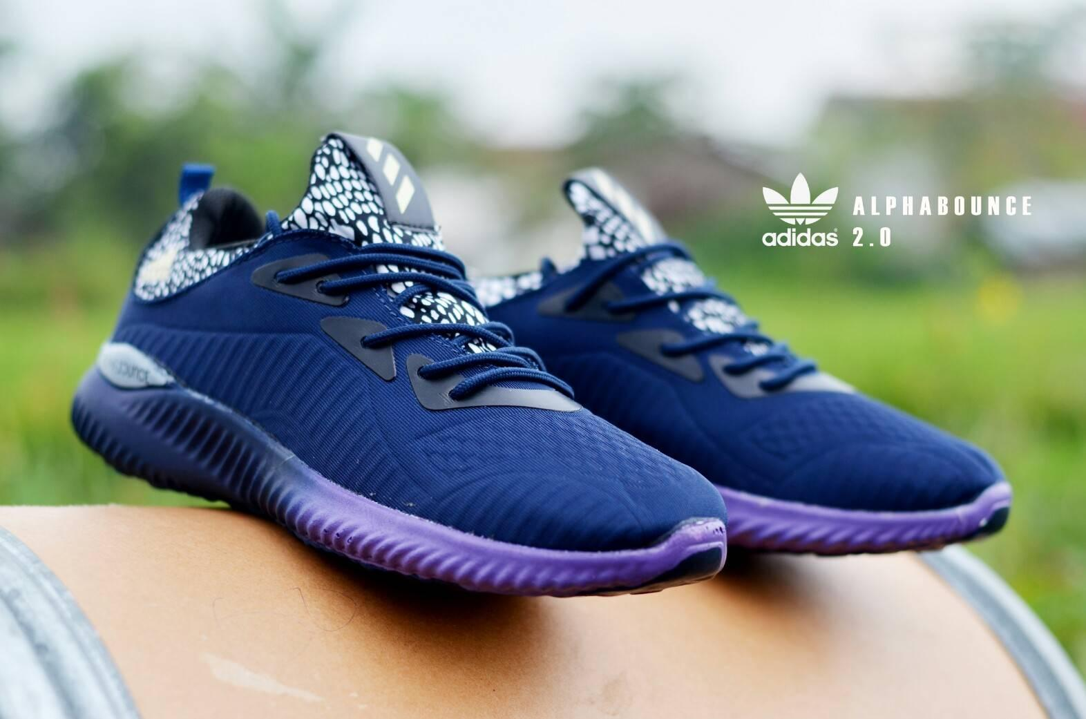 Sepatu Olahraga sport adidas alphabounce pria wanita jogging outdoor lari  santai gym senam runing terbaik murah 32f330e73e
