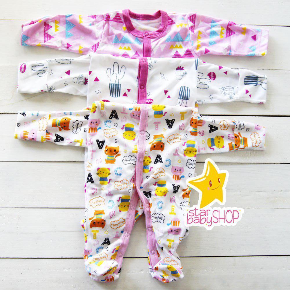 14bfcf0eb Diskon Besar Gema Jumper Bayi Bodysuit Bayi Sleepsuit Bayi Next 3 In ...