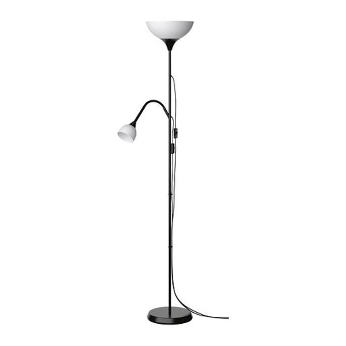 IKEA NOT Lampu lantai sorot atas lampu baca, hitam, putih