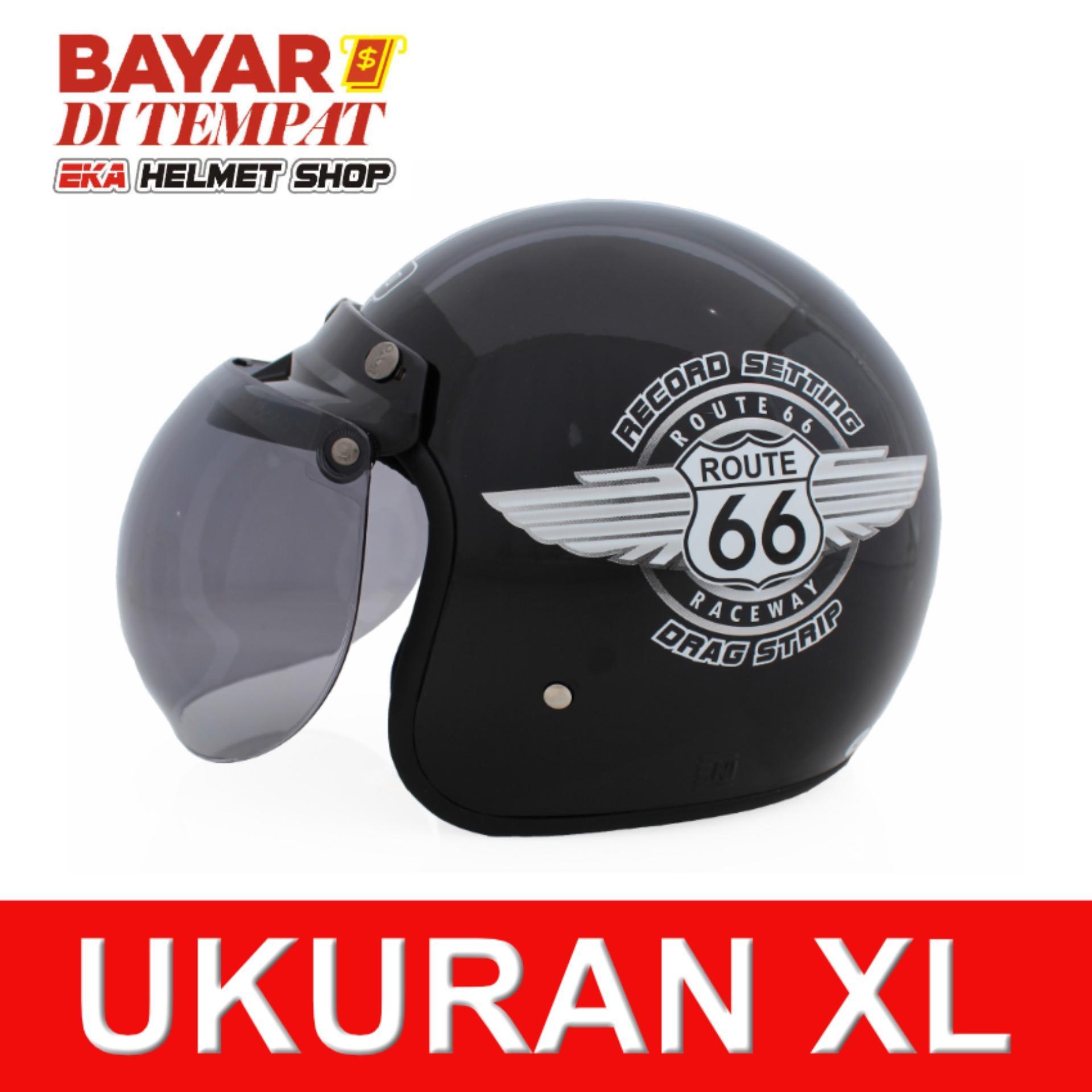 Jual Wto Helmet Retro K3 66 Hitam Online Banten